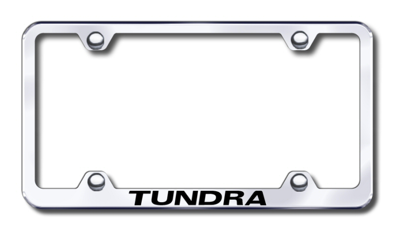 Toyota Tundra Laser Etched Stainless Steel Wide License Plate Frame