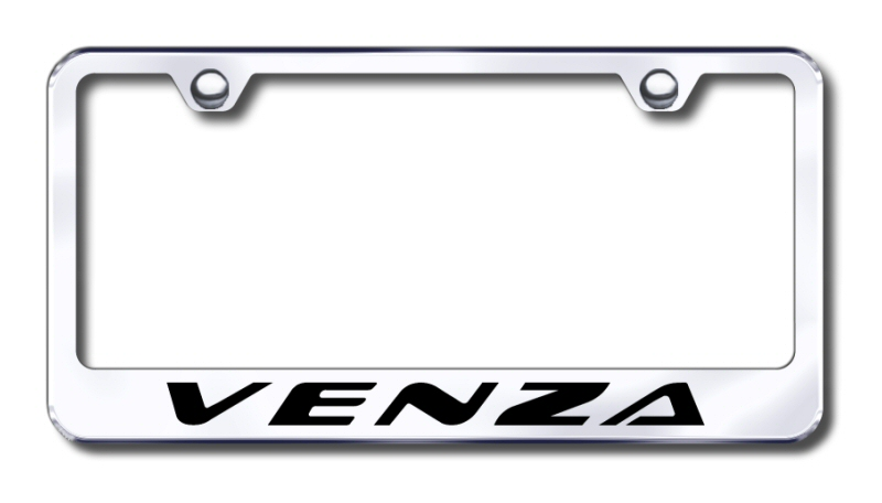 Toyota Venza Laser Etched Stainless Steel License Plate Frame