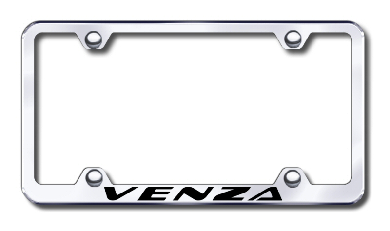 Toyota Venza Laser Etched Stainless Steel Wide License Plate Frame