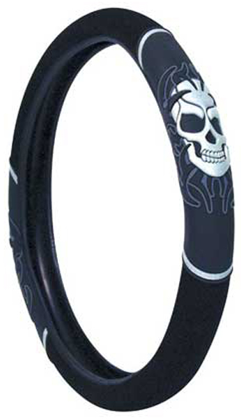 Image of Tribal Skull Steering Wheel Cover
