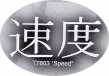 Trimbrite Asian Expressions Speed Decal