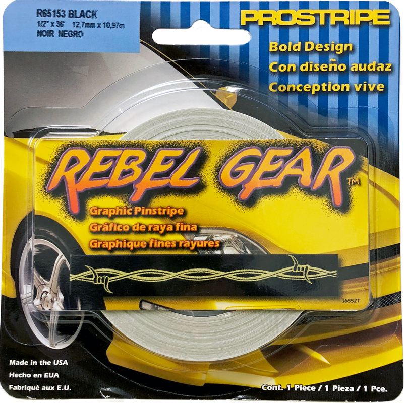 "Image of ""Trimbrite Rebel Gear Black Barbwire Pinstripe (1/2"""" x 36ft)"""