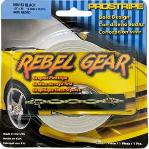 "Trimbrite Rebel Gear Black Barbwire Pinstripe (1/2"" x 36ft)"