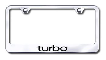 Turbo Logo Laser Etched Stainless Steel License Plate Frame