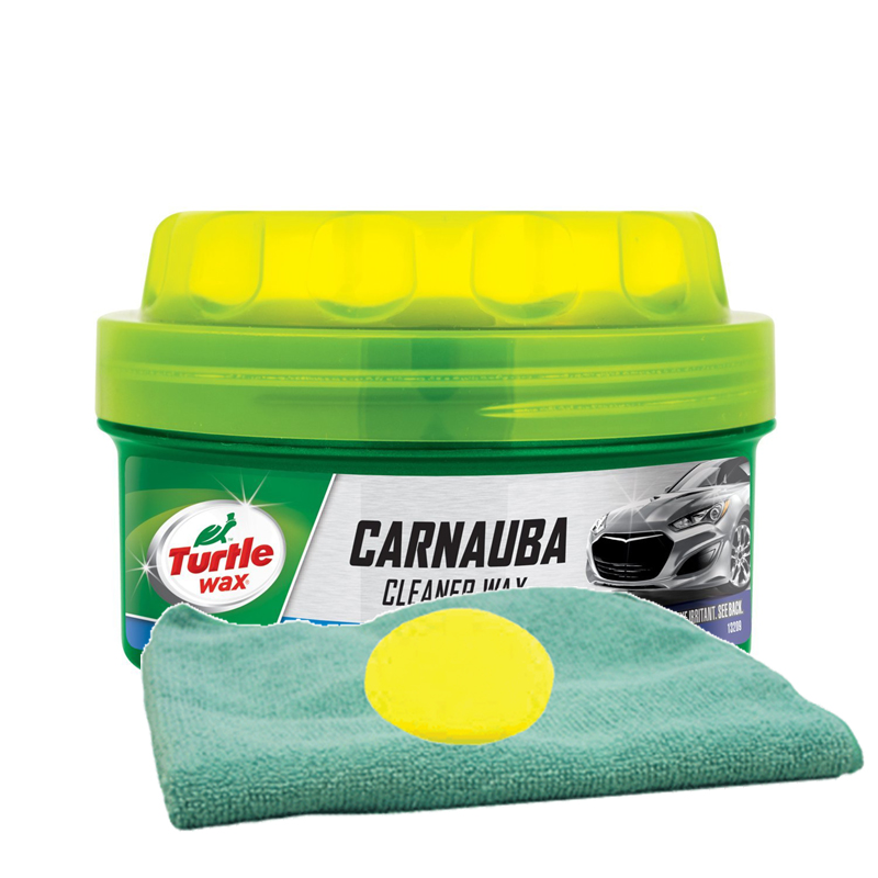 Turtle Wax Carnauba Paste Wax (14 oz.) Microfiber Cloth & Foam Pad Kit