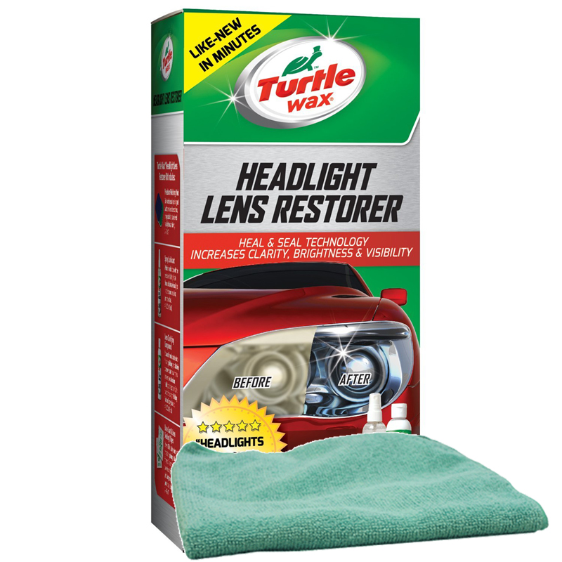 Turtle Wax Headlight Lens Restorer & Microfiber Cloth Kit