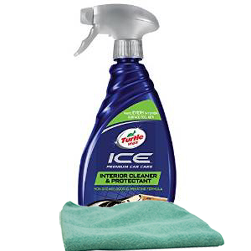 Turtle Wax Ice Total Interior Care Spray (20 oz.) & Microfiber Cloth Kit