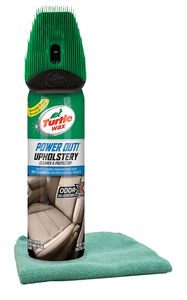 Turtle Wax Power Out Upholstery Cleaner (18 oz) & Microfiber Cloth Kit