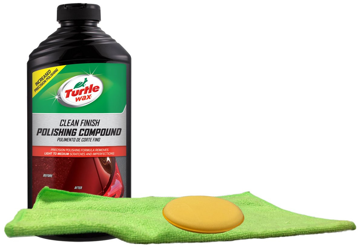 Turtle Wax Clean Finish Polishing Compound Microfiber Cloth & Foam Pad Kit