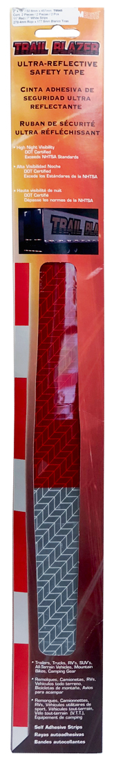 """Image of """"Ultra-Reflective 2"""""""" x 18"""""""" Red & White Safety Tape (2 Pack)"""""""