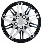 "Pilot Automotive 15"" Formula Performance Black & Chrome Wheel Covers (Set of 4)"