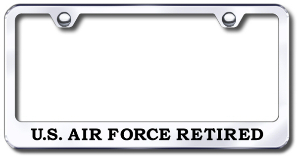 Us Air Force Retired Laser Etched Stainless Steel License Plate