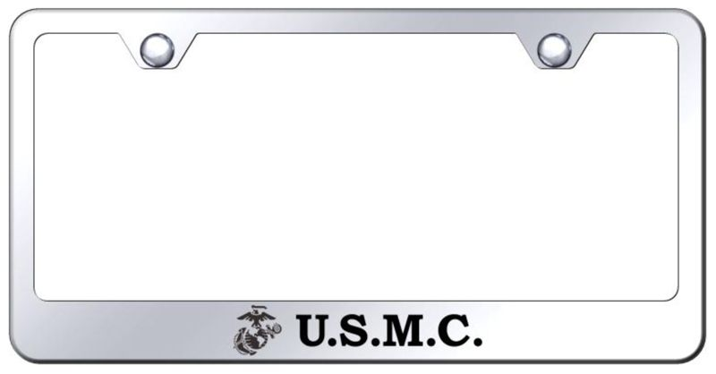 US Marine Corp Laser Etched Stainless Steel License Plate Frame ...