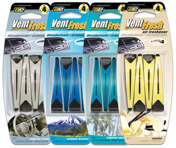 Vent Fresh Vent Clip Air Fresheners (4 Pack)