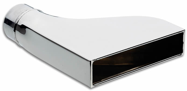 Vibrant Stainless Steel Rectangular Exhaust Tips (Weld-On) -  1607