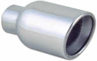 Vibrant Stainless Steel Round Exhaust Tip (Weld-On)
