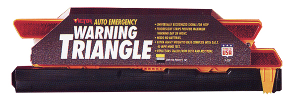 Image of Victor Auto Emergency Warning Triangle