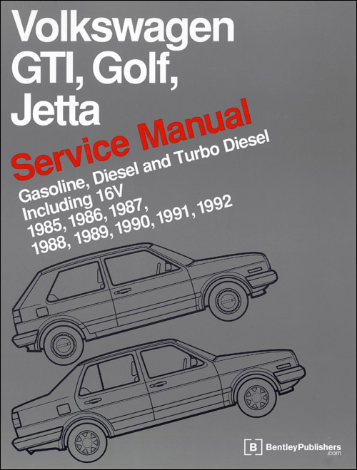 Volkswagen GTI Golf & Jetta Service Manual 1985-1992