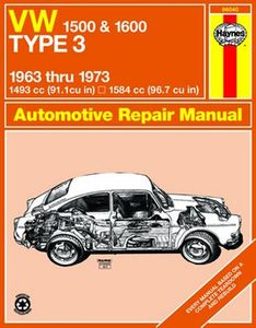 VW 1500 & 1600 Type 3 Haynes Repair Manual (1963 - 1973)