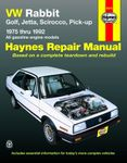 VW Rabbit, Golf, Jetta, Scirocco & Pick-Up Haynes Repair Manual (1975-1992)