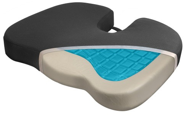 Relax Fusion Coccyx Memory Foam & Cooling Gel Seat Cushion