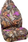 Wild Wood Camouflage Purple Leaf Universal Bucket Seat Cover