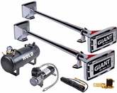 Wolo Giant Roof Mount Air Horn Set 12-Volt Solenoid Operated