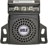 Wolo Heavy-Duty White Noise Back-Up Alarm With Flashing LED Light (97 Decibels)