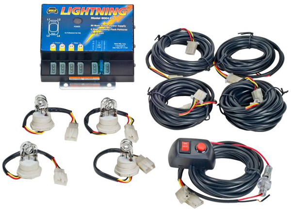 Wolo Lightning 80 Watt Power Supply 4 Bulb Strobe Kit