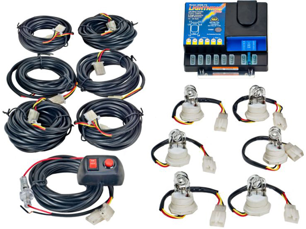 Wolo Lightning Plus 120-Watt Power Supply 6 Bulb Strobe Kit