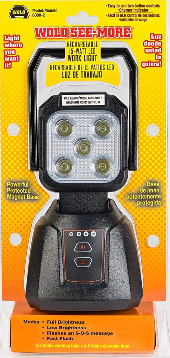 Image of Wolo 15-Watt LED Rechargeable Work Light