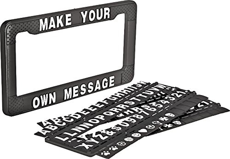 "Image of """"""Write Your Own Message"""" Personalized License Plate Frame"""