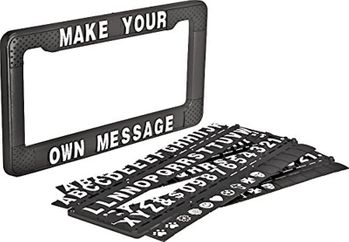 """Write Your Own Message"" Personalized License Plate Frame"