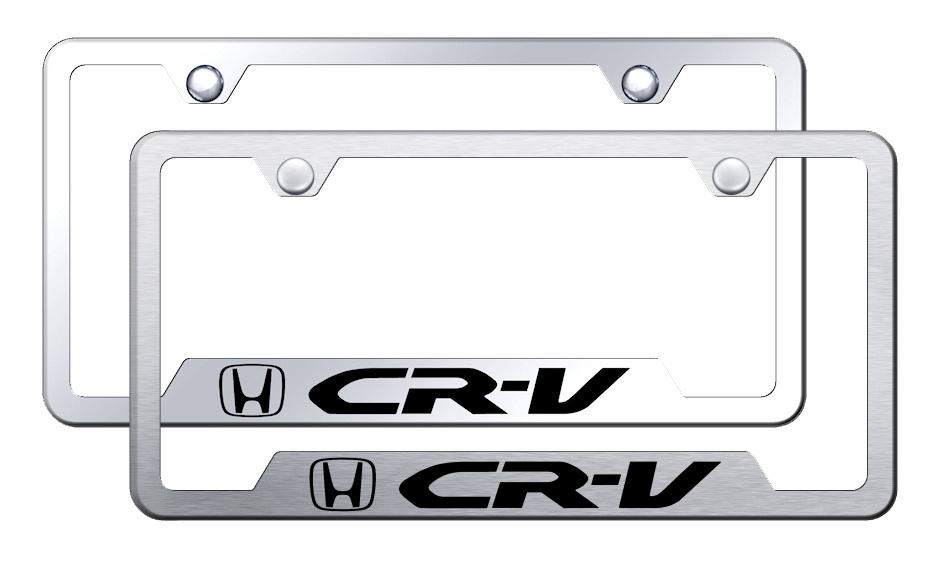 CR-V Laser Etched Stainless Steel Cut-Out Frame -  Brushed