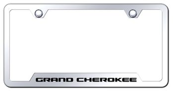 Grand Cherokee Laser Etched Mirrored Stainless Steel Cut-Out Frame