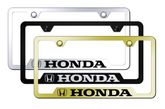 Honda Laser Etched Stainless Steel Cut-Out Frame