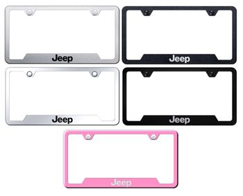 Jeep Laser Etched Stainless Steel Cut-Out Frame