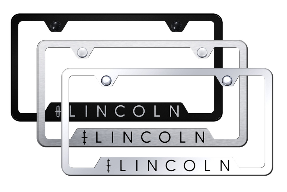 http://www.autobarn.net - Lincoln Laser Etched Stainless Steel Cut-Out Frame