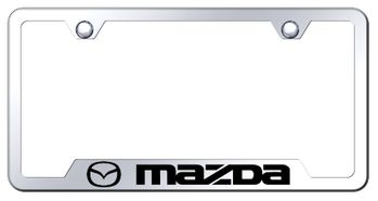 Mazda Laser Etched Mirrored Stainless Stain Cut-Out Frame