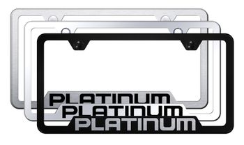 Platinum Laser Etched Stainless Steel Cut-Out Frame