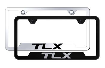 Acura TLX Laser Etched Stainless Steel Cut-Out License Plate Frame