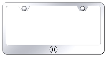 Acura Logo Laser Etched Mirrored Finish Stainless Steel Frame