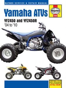 Yamaha YFZ450 & YFZ450R ATVs Haynes Repair Manual (2004-2010)