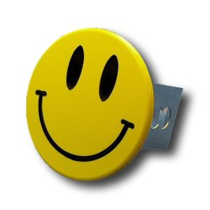 Yellow Smile Face Stainless Steel Hitch Plug