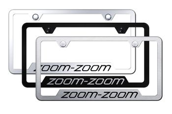 Zoom Zoom Laser Etched Stainless Steel Cut-Out Frame