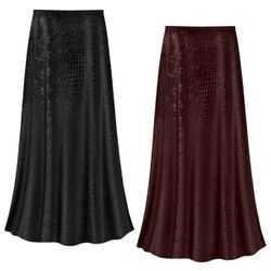 NEW! Customizable Plus Size Black or Chocolate Velvet Python Print Skirts - Sizes Lg XL 1x 2x 3x 4x 5x 6x 7x 8x 9x