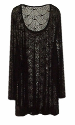 SOLD OUT!!!!!!!!! 2 Piece Set: Black Tank Top & Spider Web Lace Shirt-Special Order