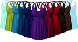 2pc Plus Size Swimsuit Swimdress 0x1x 2x 3x 4x Supersize 5x 6x 7x 8x Halter or Shoulder Strap! XL to 8x Many Colors! <br>Standard Length, Petite or Tall!