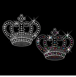 SALE! Awesome Rhinestud Rhinestones Silver or Multi-Color Sparkly Crown Plus Size & Supersize T-Shirts S M L XL 2x 3x 4x 5x 6x 7x 8x (All Colors)