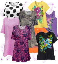 T-Shirts - Beautiful Plain & Printed Tee's<br>Plus Size & Supersize 0x to 9x